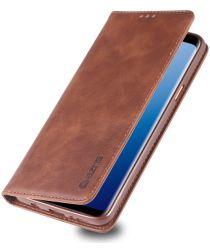 Samsung Galaxy S9 Plus Retro Portemonnee Hoesje Coffee