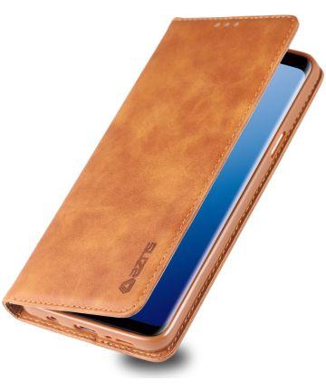 Samsung Galaxy S9 Retro Portemonnee Hoesje Bruin Hoesjes