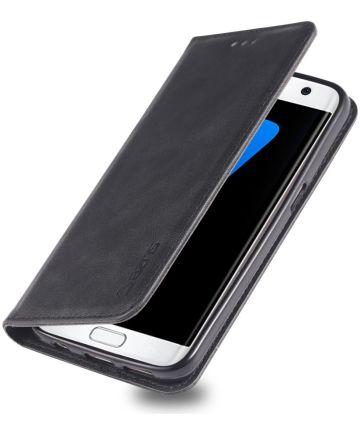 Samsung Galaxy S7 Retro Portemonnee Hoesje Zwart Hoesjes