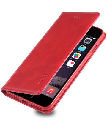 Apple iPhone 7 Plus / 8 Plus Retro Portemonnee Hoesje Rood Hoesjes