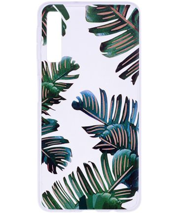 Samsung Galaxy A7 (2018) TPU Hoesje met Leaves Print Hoesjes