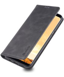 Samsung Galaxy S8 Plus Retro Portemonnee Hoesje Zwart