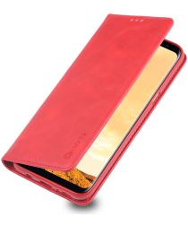 Samsung Galaxy S8 Plus Retro Portemonnee Hoesje Rood