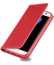 Samsung Galaxy S7 Edge Retro Portemonnee Hoesje Rood