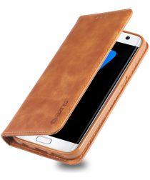 Samsung Galaxy S7 Edge Retro Portemonnee Hoesje Bruin