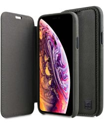 Melkco Origin Apple iPhone XS Book Case Echt Leer Groen