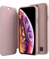 Melkco Origin Apple iPhone XS Book Case Echt Leer Roze