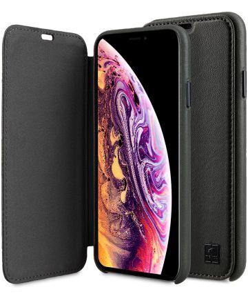 Melkco Origin Apple iPhone XS Max Book Case Echt Leer Groen Hoesjes