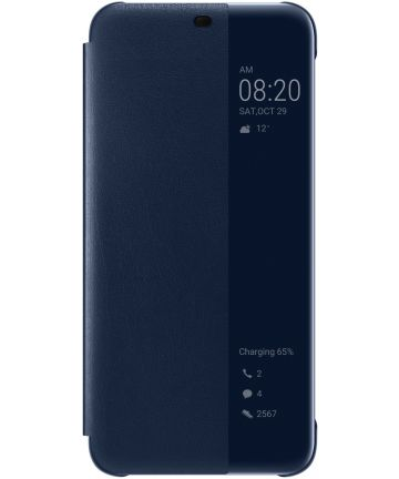 Huawei Mate 20 Lite View Cover Blauw Hoesjes
