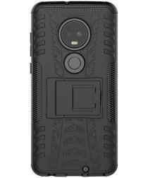 Motorola Moto G7 Robuust Hybride Hoesje Zwart