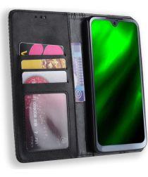 Motorola Moto G7 Vintage Portemonnee Hoesje Zwart