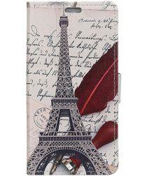 Nokia 8.1 Portemonnee Hoesje met Eiffeltoren Opdruk