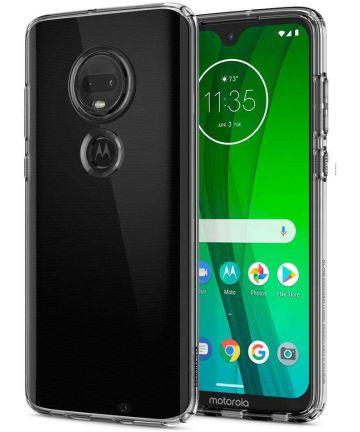 Spigen Liquid Crystal Hoesje Motorola Moto G7 Transparant Hoesjes