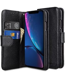Melkco Apple iPhone XS Book Case Echt Leer Zwart