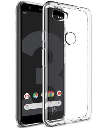 IMAK UX-5 Series Google Pixel 3A Hoesje Flexibel TPU Transparant Hoesjes