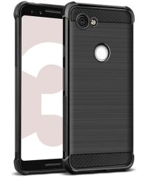 IMAK Vega Series Google Pixel 3A Hoesje Geborsteld TPU Zwart