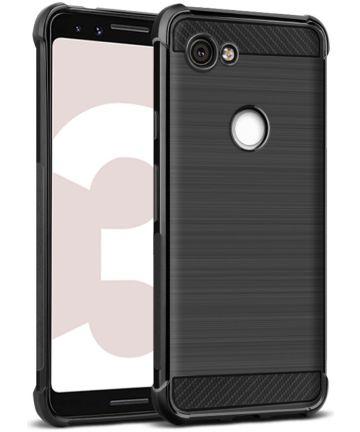 IMAK Vega Series Google Pixel 3A Hoesje Geborsteld TPU Zwart Hoesjes