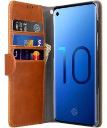 Melkco Book Cover Samsung Galaxy S10 Hoesje Bruin