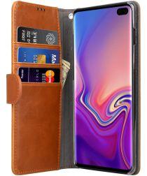 Melkco Book Cover Samsung Galaxy S10 Plus Hoesje Bruin