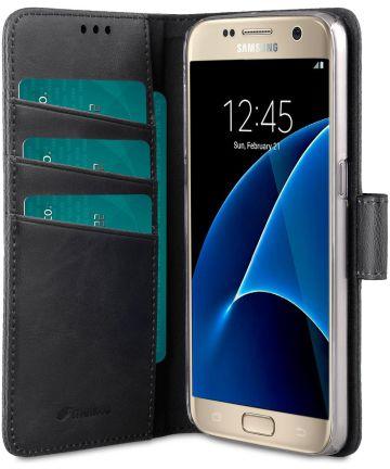 Melkco Book Cover Samsung Galaxy S7 Hoesje Zwart