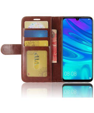 Huawei Y7 (2019) Portemonnee Hoesje Bruin Hoesjes