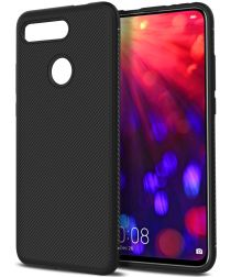 Honor View 20 Twill Slim Texture Back Cover Zwart