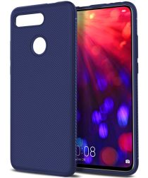Honor View 20 Twill Slim Texture Back Cover Blauw