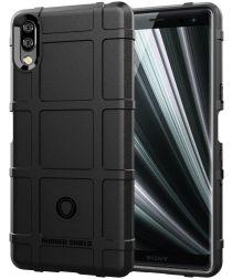Sony Xperia L3 Hybride Rugged Armor Hoesje Zwart