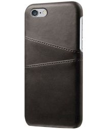 Apple iPhone 6(S) Back Cover met Kaarthouder Zwart