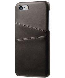 Apple iPhone 6(S) Back Cover met Kaarthouder Zwart