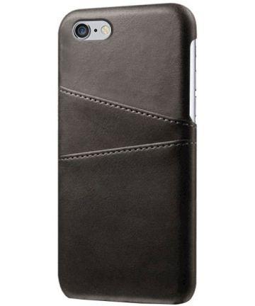 Apple iPhone 6(S) Back Cover met Kaarthouder Zwart Hoesjes