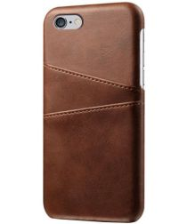 Apple iPhone 6(S) Back Cover met Kaarthouder Bruin