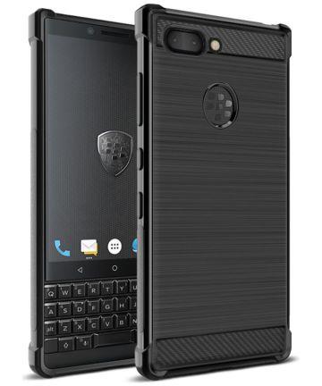 IMAK Vega Series BlackBerry Key2 Hoesje Geborsteld TPU Zwart Hoesjes