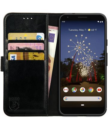 Rosso Element Google Pixel 3A XL Hoesje Book Cover Zwart Hoesjes