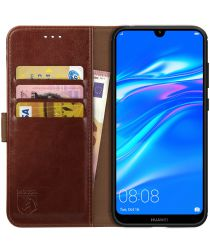 Rosso Element Huawei Y7 (2019) Hoesje Book Cover Bruin