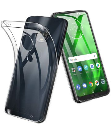Motorola Moto G7 Plus Hoesje Dun TPU Transparant Hoesjes