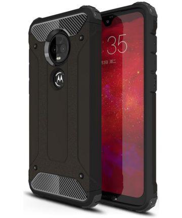Motorola Moto G7 Plus Hybride Hoesje Zwart Hoesjes