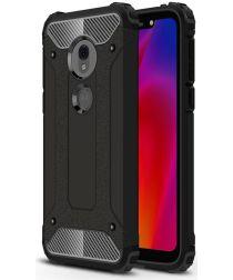 Motorola Moto G7 Play Hybride Hoesje Zwart