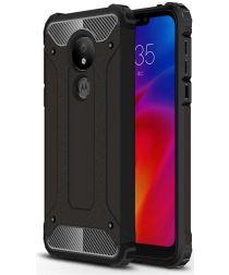 Motorola Moto G7 Power Hybride Hoesje Zwart