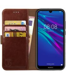 Rosso Element Huawei Y6 (2019) Hoesje Book Cover Bruin
