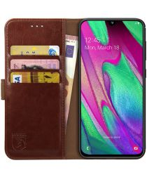 Rosso Element Samsung Galaxy A40 Hoesje Book Cover Bruin