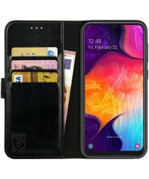 Rosso Element Samsung Galaxy A50 Hoesje Book Cover Zwart