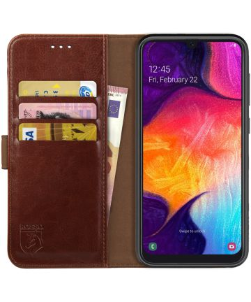 Rosso Element Samsung Galaxy A50 Hoesje Book Cover Bruin