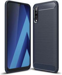 Samsung Galaxy A50 Hoesje Geborsteld TPU Blauw