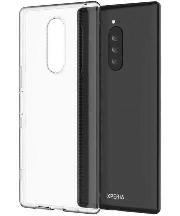 Sony Xperia 1 Hoesje Dun TPU Transparant Hoesjes