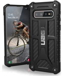 Urban Armor Gear Monarch Hoesje Samsung Galaxy S10 Carbon