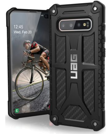 Urban Armor Gear Monarch Hoesje Samsung Galaxy S10 Plus Carbon