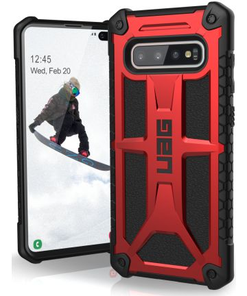 Urban Armor Gear Monarch Hoesje Samsung Galaxy S10 Plus Crimson