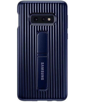 Samsung Galaxy S10E Protect Stand Cover Blauw Hoesjes