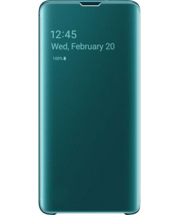 Samsung Galaxy S10 Clear View Cover Groen